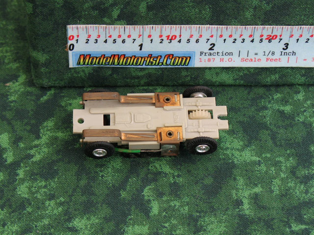 Bottom view of Marusan HO Slot Car Chassis