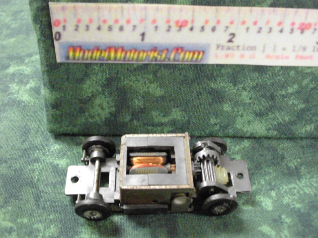 Top view of Marx HO Slot Car Chassis