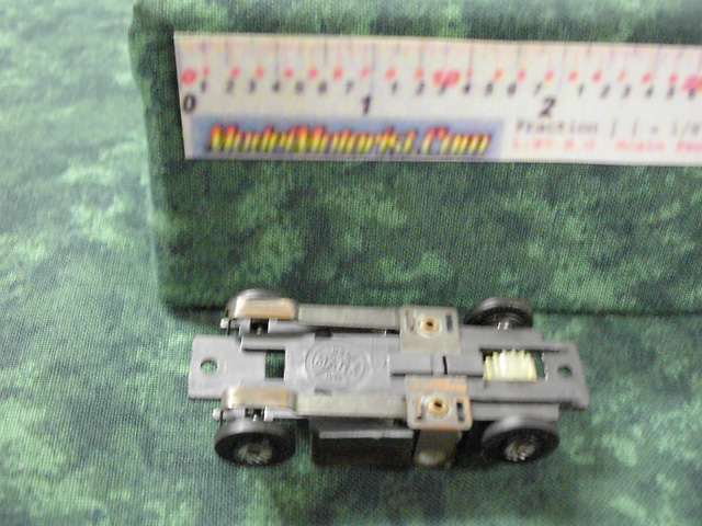 Bottom view of Marx HO Slot Car Chassis