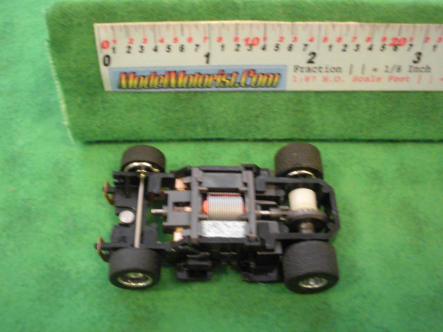 Top view of Mattel HPX2 Electric Hot Wheels HO Slot Car Chassis