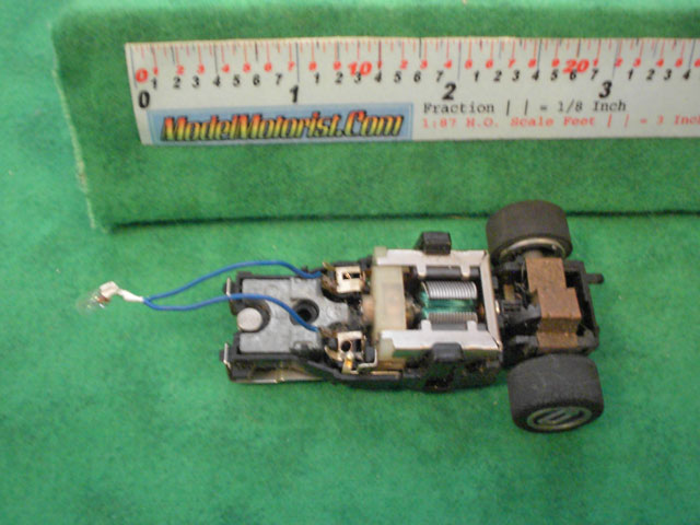 Top view of Matchbox HO Slot Car Chassis