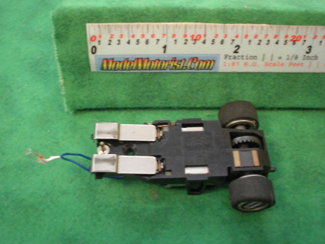Bottom view of Matchbox HO Slot Car Chassis