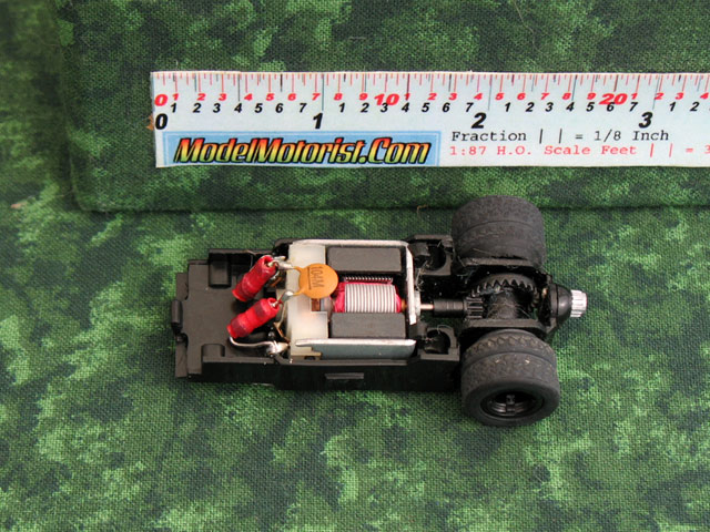 Top view of MicroScalextric Batman HO Slot Car Chassis
