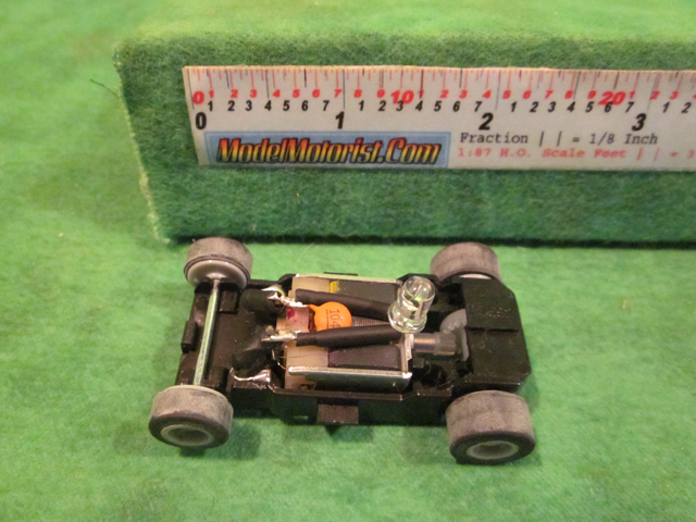 Top view of MicroScalextric Lighted Star Wars HO Slot Car Chassis