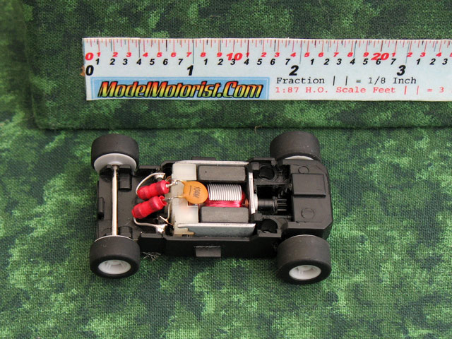 Top view of MicroScalextric Wide Mount HO Slot Car Chassis