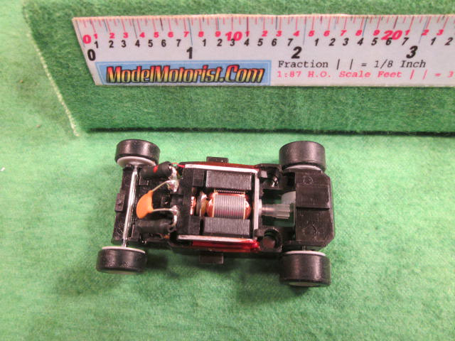 Top view of MicroScalextric 12 Volt HO Slot Car Chassis