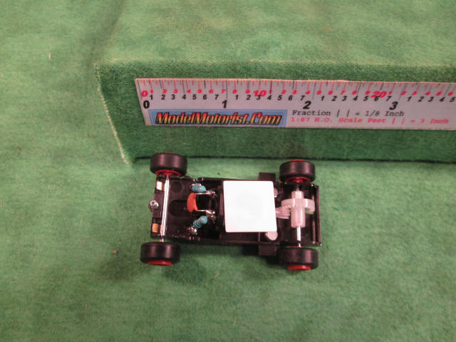 Top view of MicroScalextric 9 Volt HO Slot Car Chassis