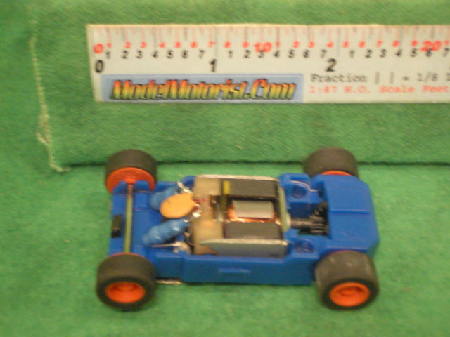 Top view of MicroScalextric Toy Story HO Slot Car Chassis