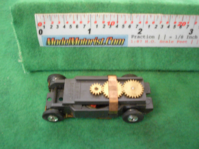 Top view of Model Motoring HO Slot Car Chassis