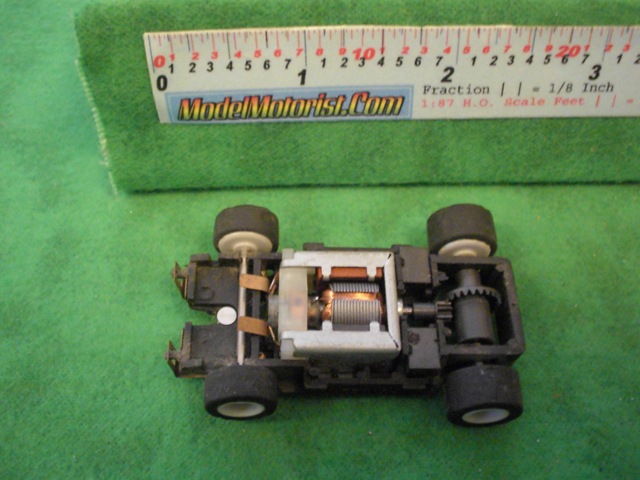 Top view of MR1 Racing HO Slot Car Chassis