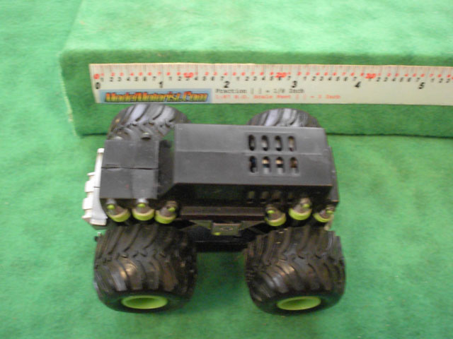 Top view of Monster Truck HO Slot Car Chassis