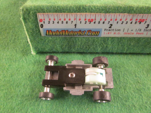 Top view of ThunderJet 500 HO Slot Car Chassis