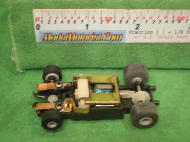 Top view of Polistil HO Slot Car Chassis