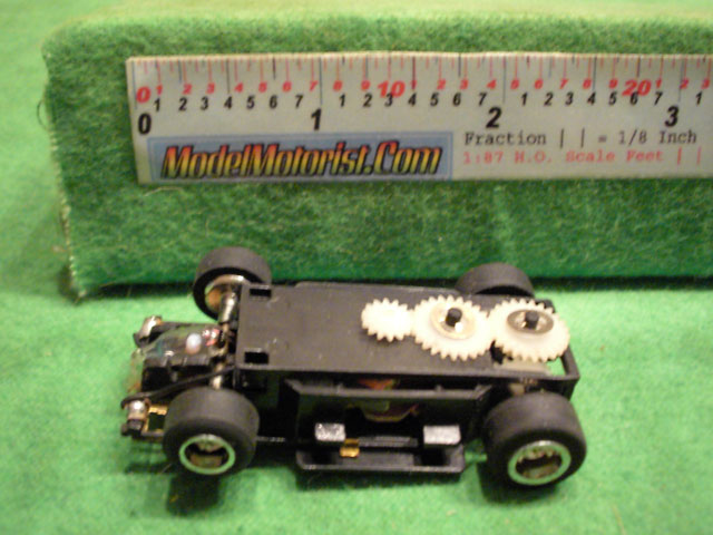 Top view of Rotafast Lighted HO Slot Car Chassis