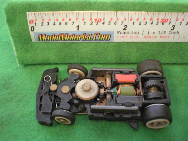 Top view of Matchbox RPS A HO Slotless Car Chassis