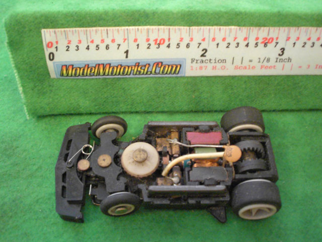 Top view of Matchbox RPS B HO Slotless Car Chassis