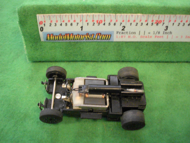 Top view of Sky Fighters HO Slot Car Chassis