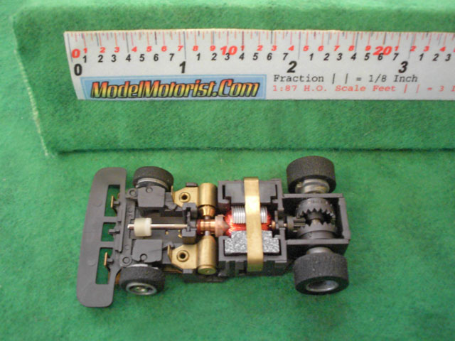 Top view of Tyco Total Control Racing Passing Car Narrow B Chassis