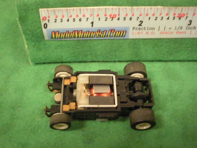 Top view of Aurora Tomy Turbo Slot Car Wide Chassis
