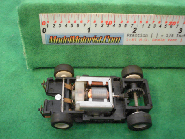 Top view of Tyco TR-X Leader HO Slot Car Chassis