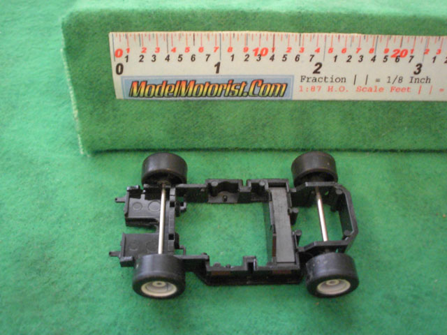 Top view of Tyco TR-X Follower HO Slot Car Chassis