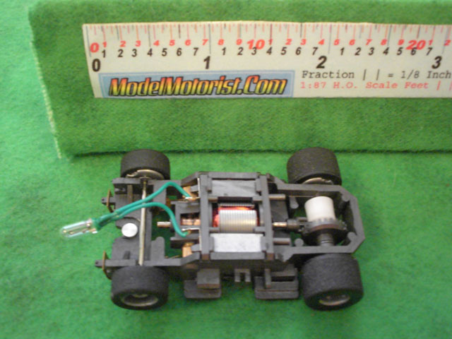 Top view of Tyco Lighted Magnum 440 Wide HO Slot Car Chassis