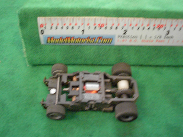 Top view of Tyco Magnum 440 Narrow HO Slot Car Chassis