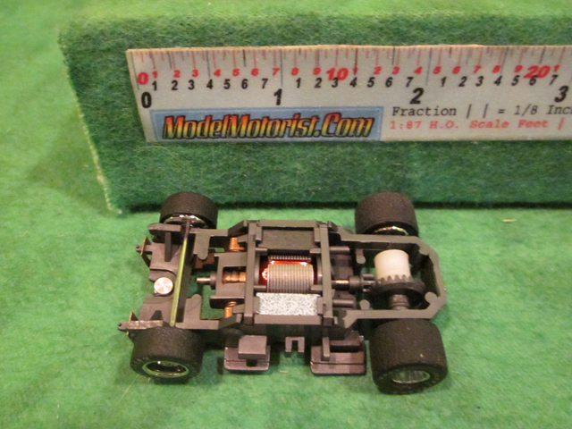 Top view of Tyco Magnum 440 Wide HO Slot Car Chassis