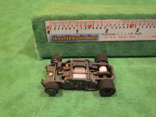 Top view of Tyco HP-440-X2 Narrow HO Slot Car Chassis