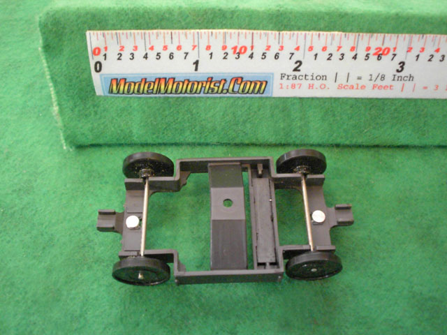 Top view of Tyco Turbo Train HO Dummy Car Chassis