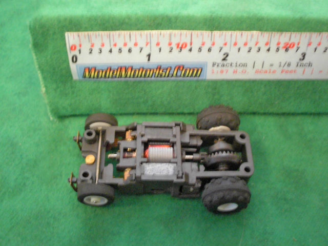 Top view of Tyco Turbo-Hopper Slot Car Chassis