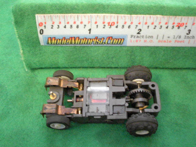 Bottom view of Tyco Turbo-Hopper Slot Car Chassis