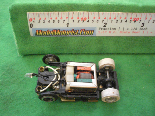 Top view of Tyco TycoPro II Lighted HO Slot Car Chassis