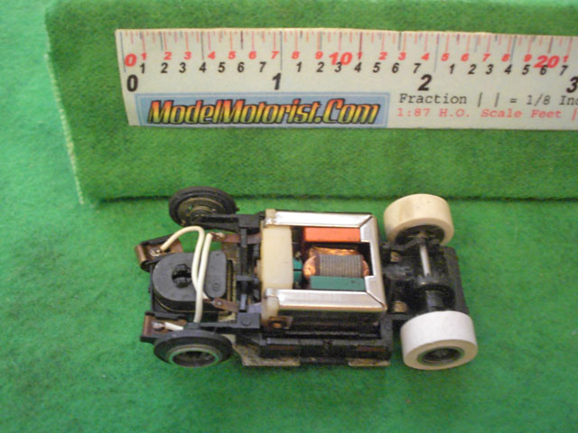 Top view of Tyco TycoPro HO Slot Car Chassis