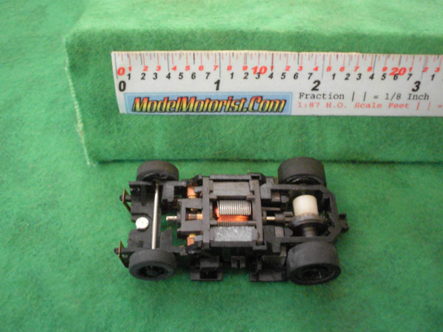 Top view of Tyco Turbo Train HO Engine Chassis