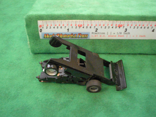 Top view of Tyco Wheelie 440 HO Slot Car Chassis