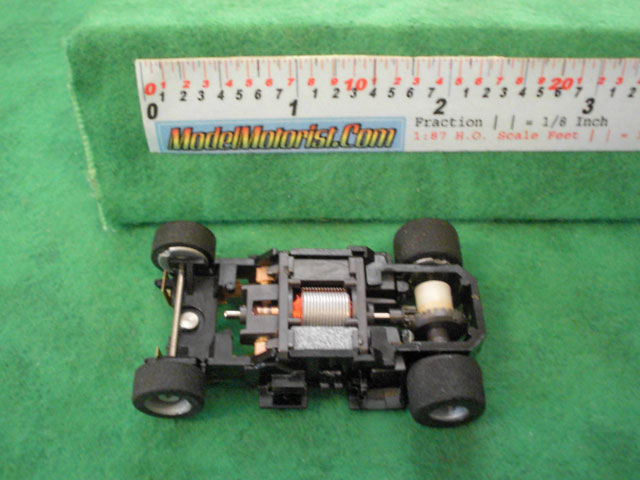 Top view of Tyco HP-440-X2 Wide HO Slot Car Chassis