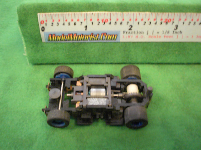 Top view of Tyco X-Treme HO Slot Car Chassis