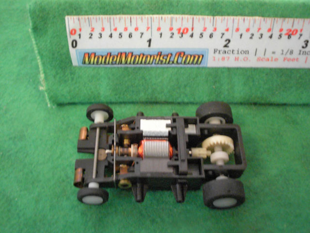Top view of Wizzard Patriot 2 HO Slot Car Chassis