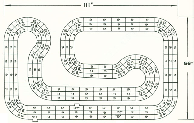 6 Lane Common Track HO Layout 2