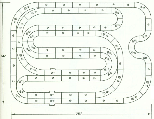6 Lane Common Track HO Layout 3