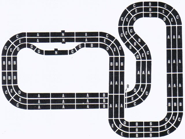 6 Lane Common Track HO Layout 5