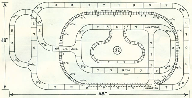 Railroad Track HO Layout 1